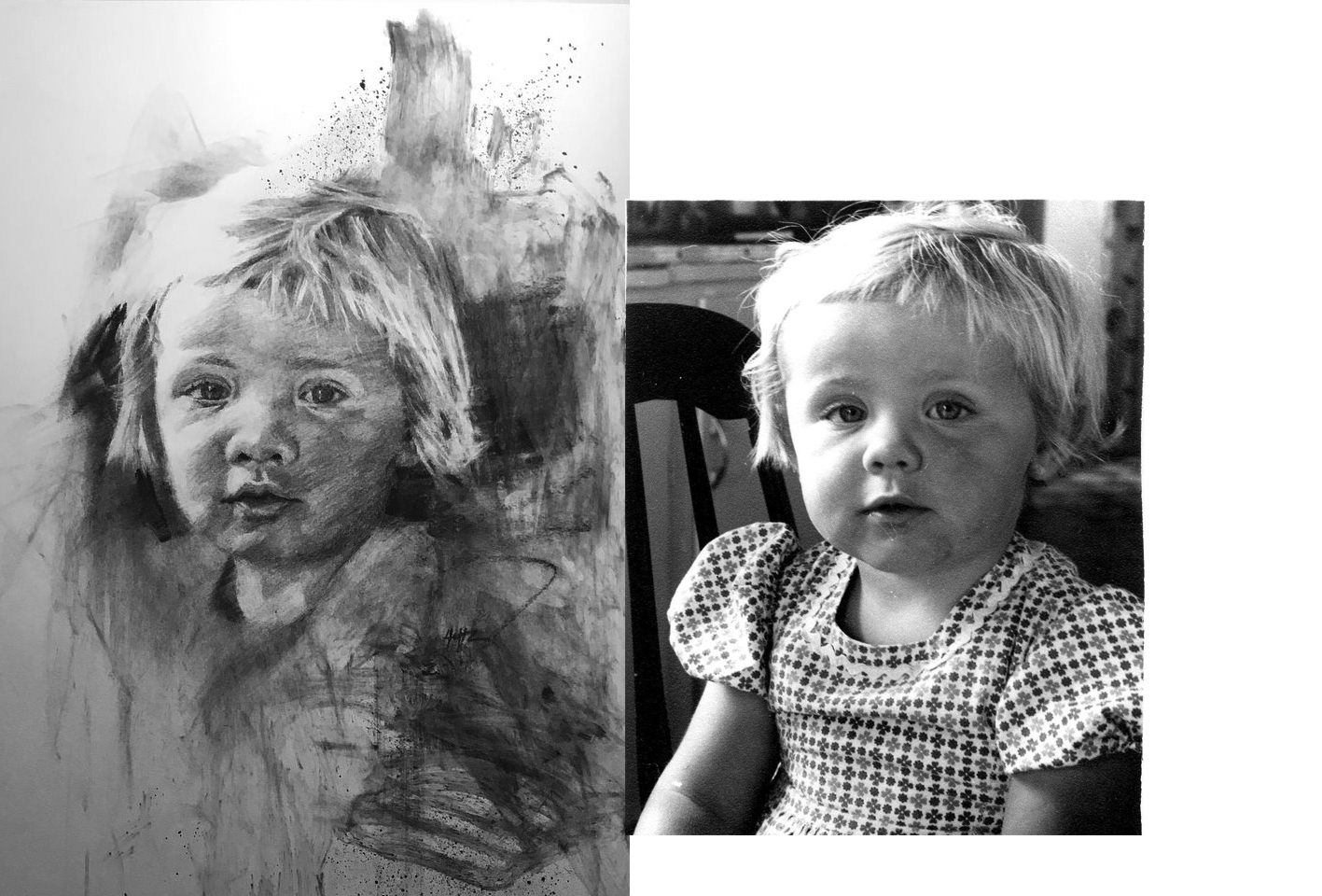 Comparison of photo and drawing