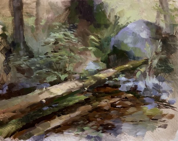 Painting of west coast forest landscape